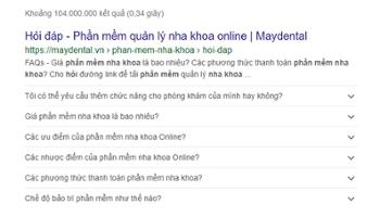 Viết hỏi đáp nha khoa đúng chuẩn Google